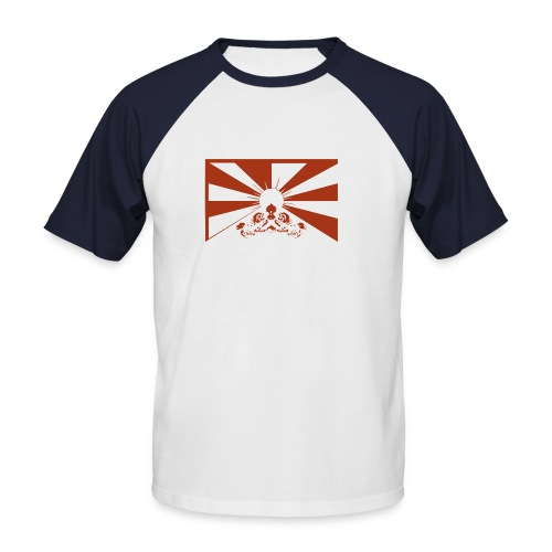 flag red - Männer Baseball-T-Shirt