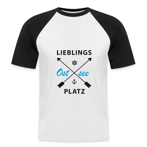 Lieblingsplatz Ostsee - Männer Baseball-T-Shirt