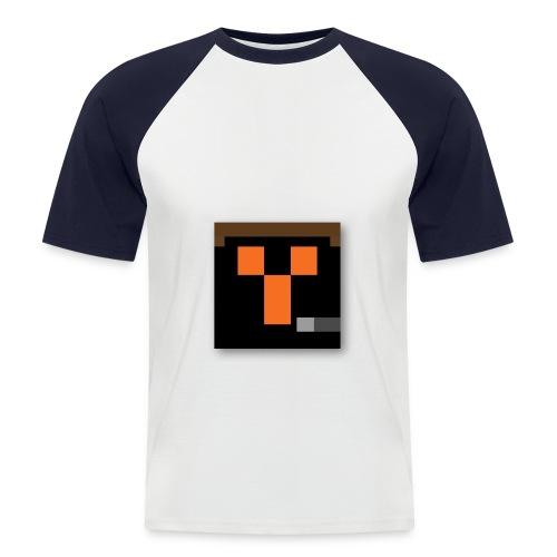 pinguinsturm png - Männer Baseball-T-Shirt