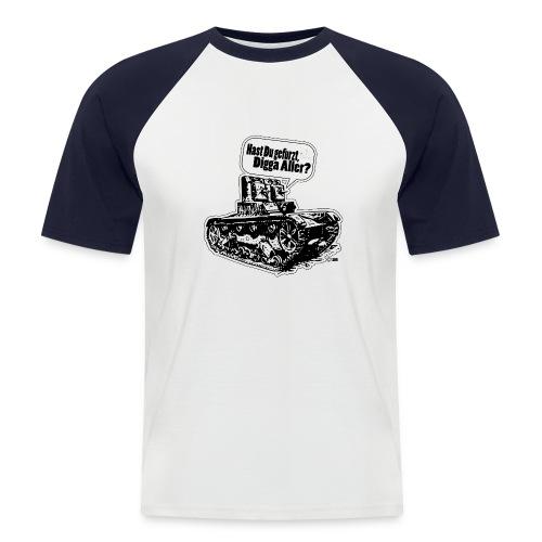 In den Panzer gefurzt - Männer Baseball-T-Shirt