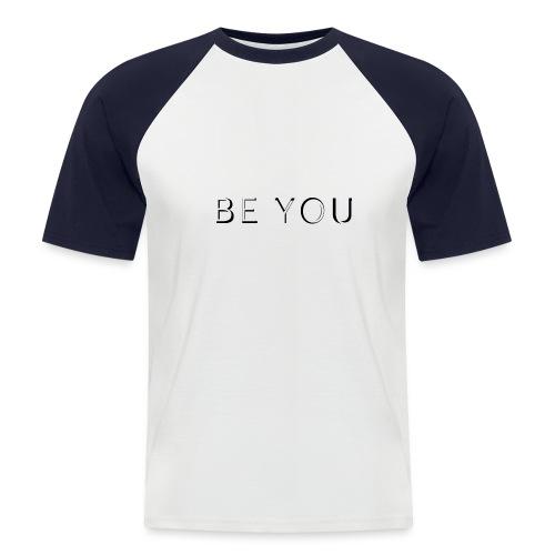 BE YOU Design - Kortærmet herre-baseballshirt