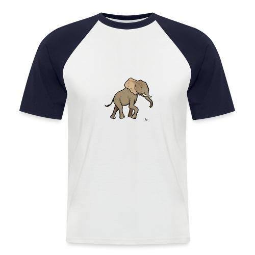 African Elephant - Männer Baseball-T-Shirt