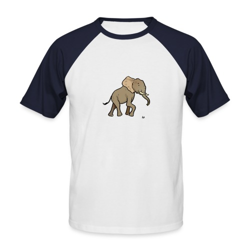 African Elephant - Men's Baseball T-Shirt