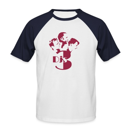 3djs logo - Männer Baseball-T-Shirt