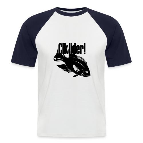 Ciklider - Kortermet baseball skjorte for menn