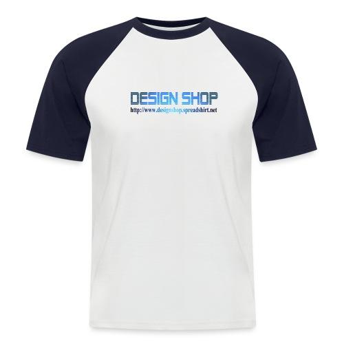design shop logo stor 1 - Kortermet baseball skjorte for menn