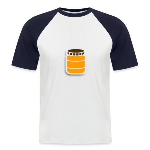 PindakaasBaas - Mannen baseballshirt korte mouw