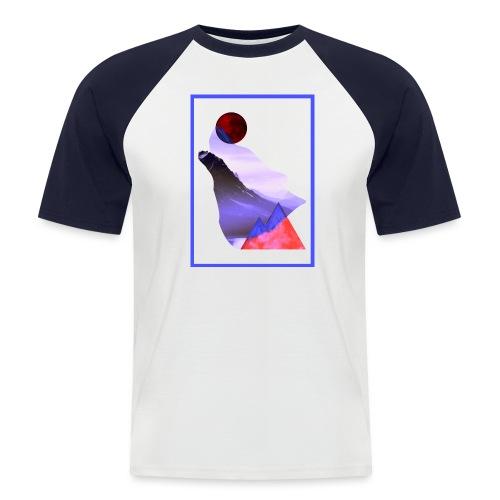 Måne Ulv - Laurids B Design - Kortærmet herre-baseballshirt
