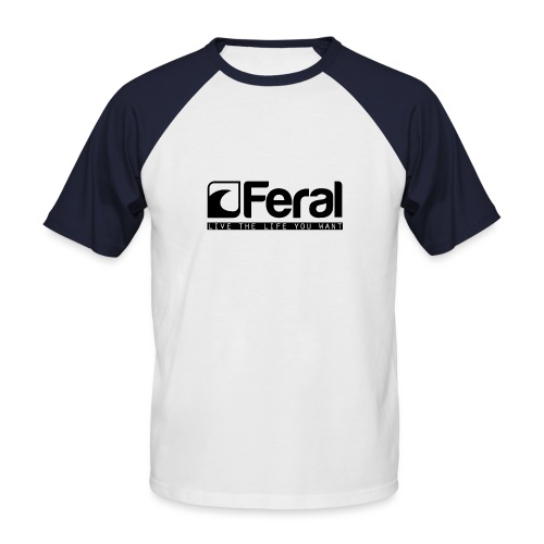 Feral Surf - Live the Life - Black - Men's Baseball T-Shirt
