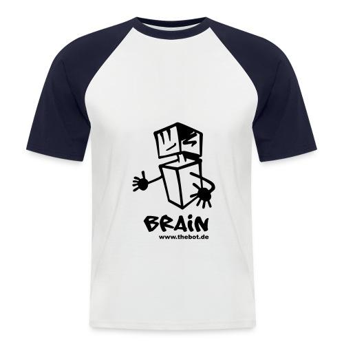 brain_logo_tshirt - Männer Baseball-T-Shirt