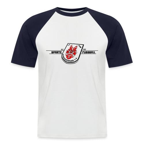 Schwarz - Männer Baseball-T-Shirt