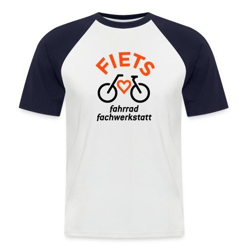 FIETS logo rond CMYK - Männer Baseball-T-Shirt