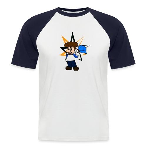 Tesalbert mit Hut und Stern png - Männer Baseball-T-Shirt