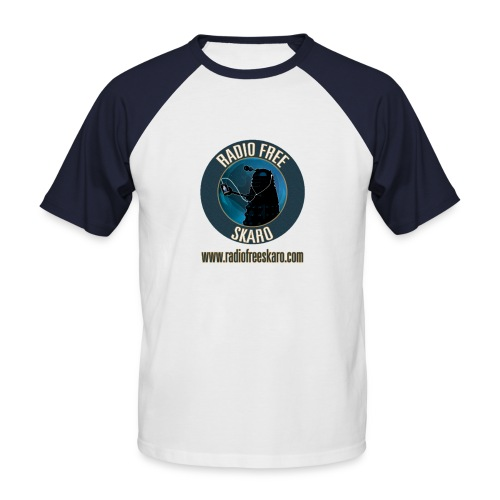 Radio Free Skaro Logo 2011 navy png - Men's Baseball T-Shirt