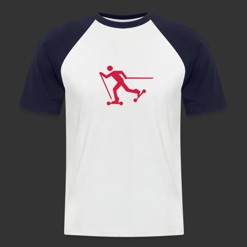 Nordic Skating - Männer Baseball-T-Shirt