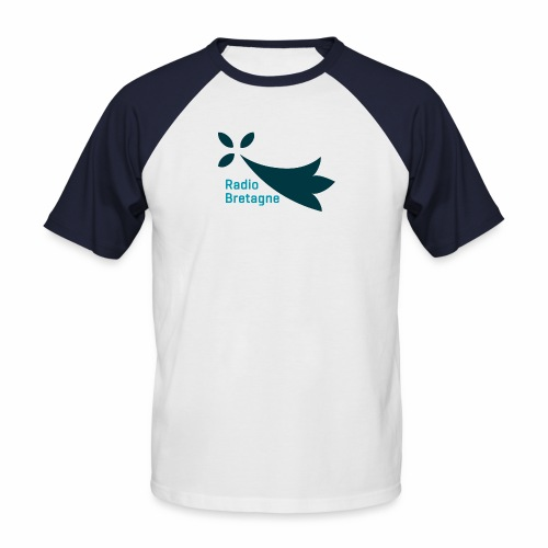 Logo Radio Bretagne - T-shirt baseball manches courtes Homme