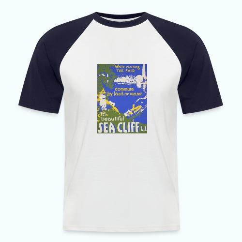 Lake travel vintage poster - Men's Baseball T-Shirt