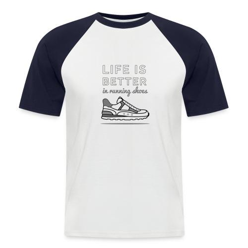 Running Shoes - Männer Baseball-T-Shirt