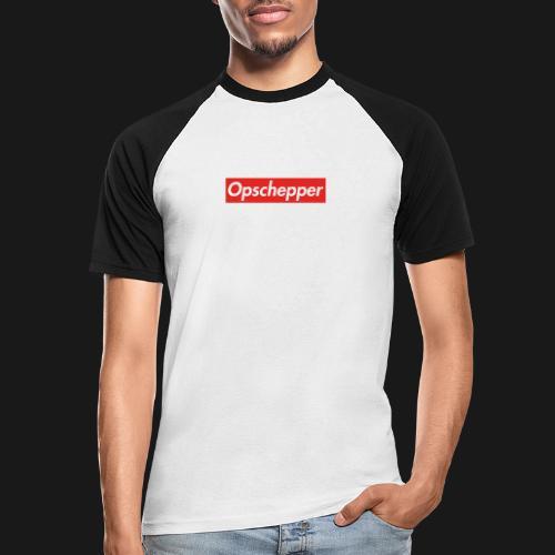 Opschepper Classic (Rood) - Mannen baseballshirt korte mouw