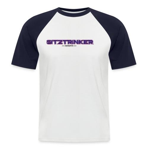 Sitztrinker Beerhunter - Männer Baseball-T-Shirt