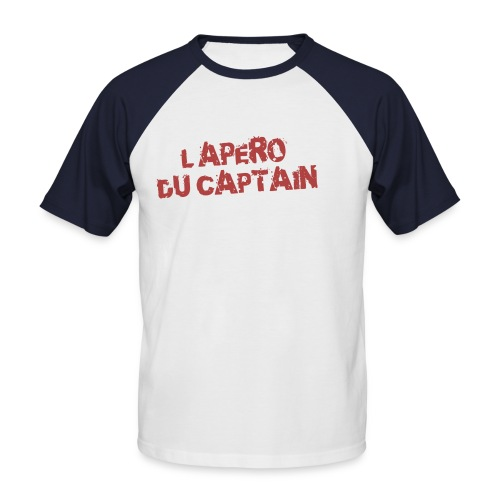 titrefondsombre - T-shirt baseball manches courtes Homme
