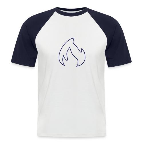 pdfforgeflammekontur - Männer Baseball-T-Shirt