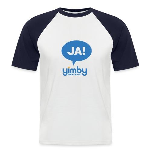 Yimby.se-logotyp med JA! - Kortärmad basebolltröja herr