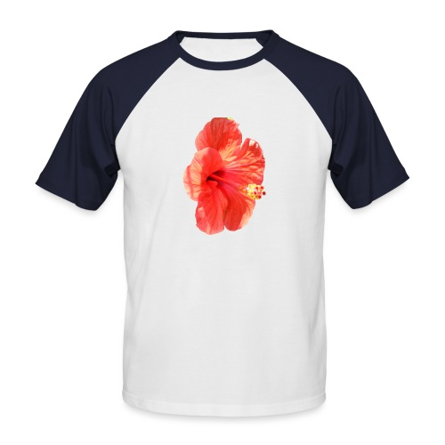 A red flower - Men's Baseball T-Shirt