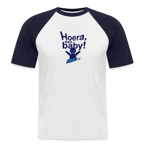 HoeraB distort2 - Mannen baseballshirt korte mouw