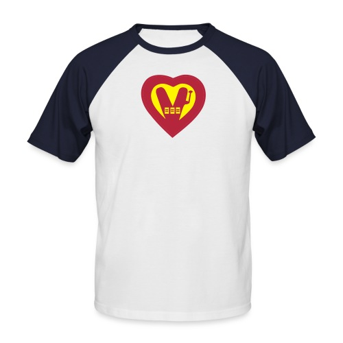 super vegan heart - Men's Baseball T-Shirt