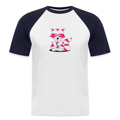 randolpf the raging racoon Digitalmotiv - Männer Baseball-T-Shirt
