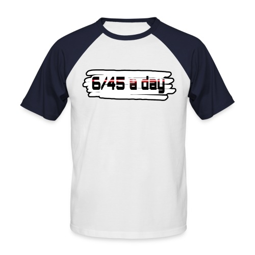 Logo 645 spread1 png - Männer Baseball-T-Shirt