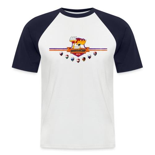 mooseCUP15 brustlogo - Männer Baseball-T-Shirt