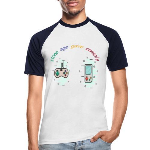 Retro Gaming Tribute - Männer Baseball-T-Shirt