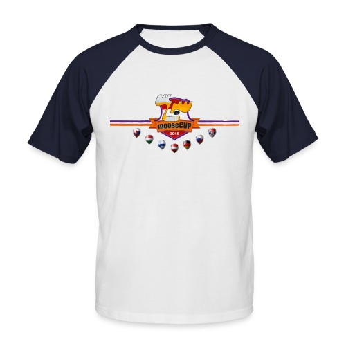 mooseCUP15 brustlogo - Männer Baseball-T-Shirt