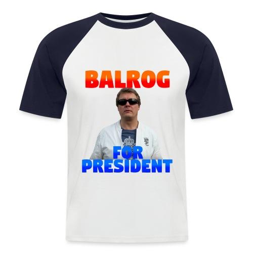 balrog4president - Kortärmad basebolltröja herr