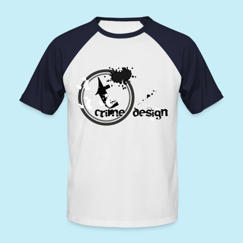 t_crime_design_20134_grau_w1 - Männer Baseball-T-Shirt