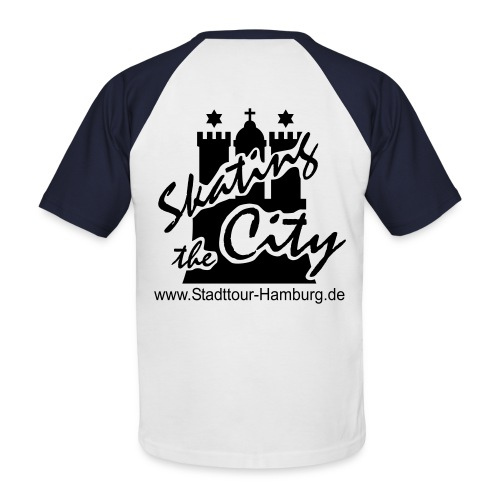 Stadttour Hamburg - Männer Baseball-T-Shirt