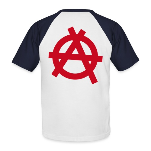 Anarchy symbol - red - Men's Baseball T-Shirt