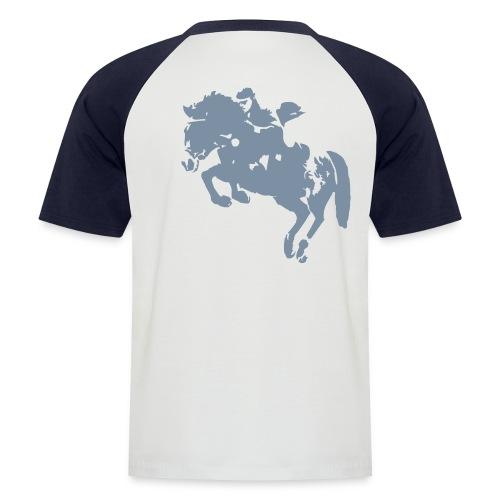springreiter_pferd - Männer Baseball-T-Shirt
