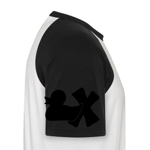 Ente mit X v3 3 klein - Männer Baseball-T-Shirt