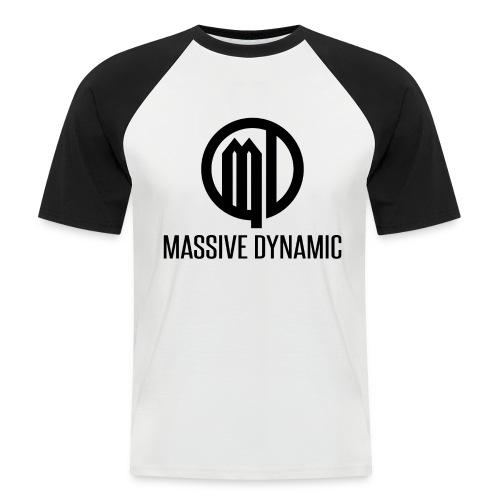 Massive Dynamic Schwarz - Männer Baseball-T-Shirt