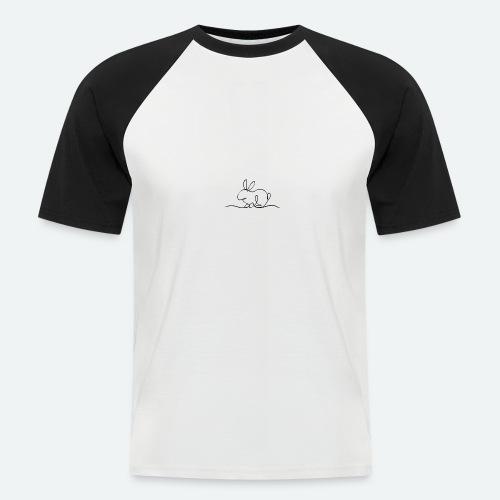 One line rabbit - Kortærmet herre-baseballshirt