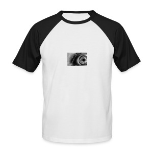 Crazy Eye - Männer Baseball-T-Shirt