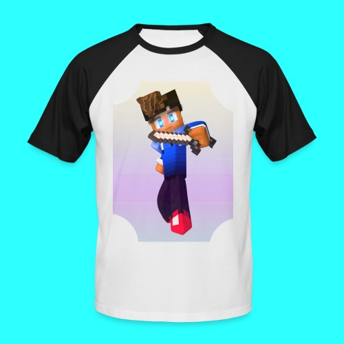 Mit Skin - Männer Baseball-T-Shirt