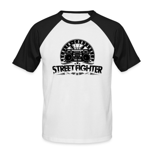 Street Fighter - Bandlogo (Black) - Männer Baseball-T-Shirt