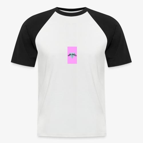PINK CREDIT plane T-Shirt with logo - Men's Baseball T-Shirt