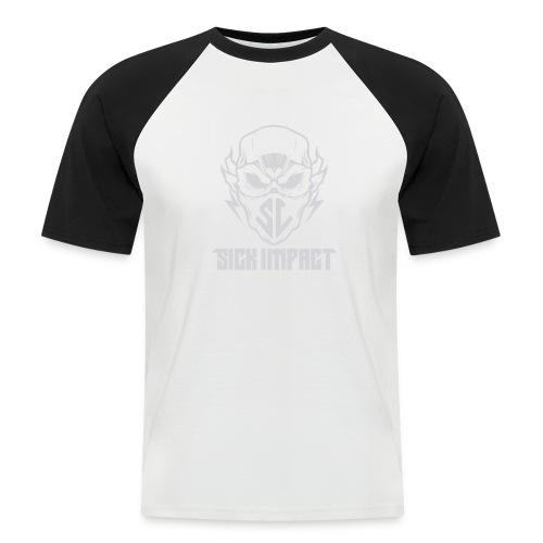 logo grey - Männer Baseball-T-Shirt