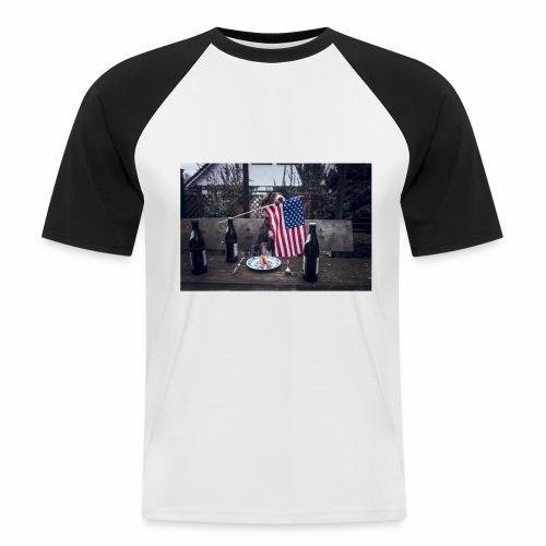 USA-beer-wiener - Männer Baseball-T-Shirt