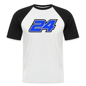 Num 24 Nicolas Charlier - T-shirt baseball manches courtes Homme